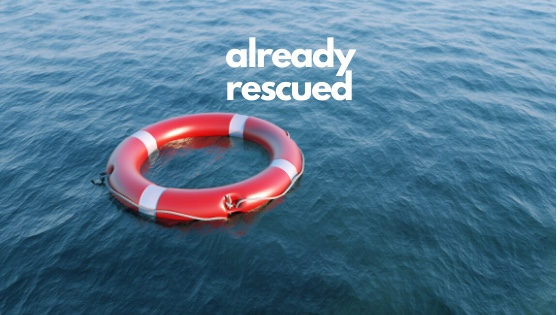 Life saving ring on water-trusting God in times of uncertainty