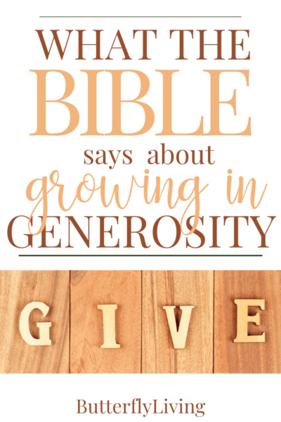 words-what does the Bible say about generosity