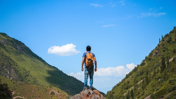 Person walking in a valley-coming to terms with turning 50