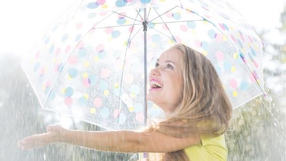 Lady under an Umbrella-take a leap of faith