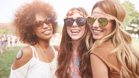 3 ladies smiling-3 types of friendships