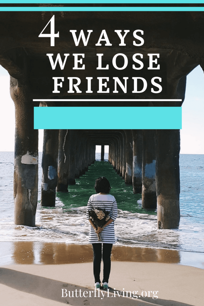 Lady looking into water-Loss of a Friendship