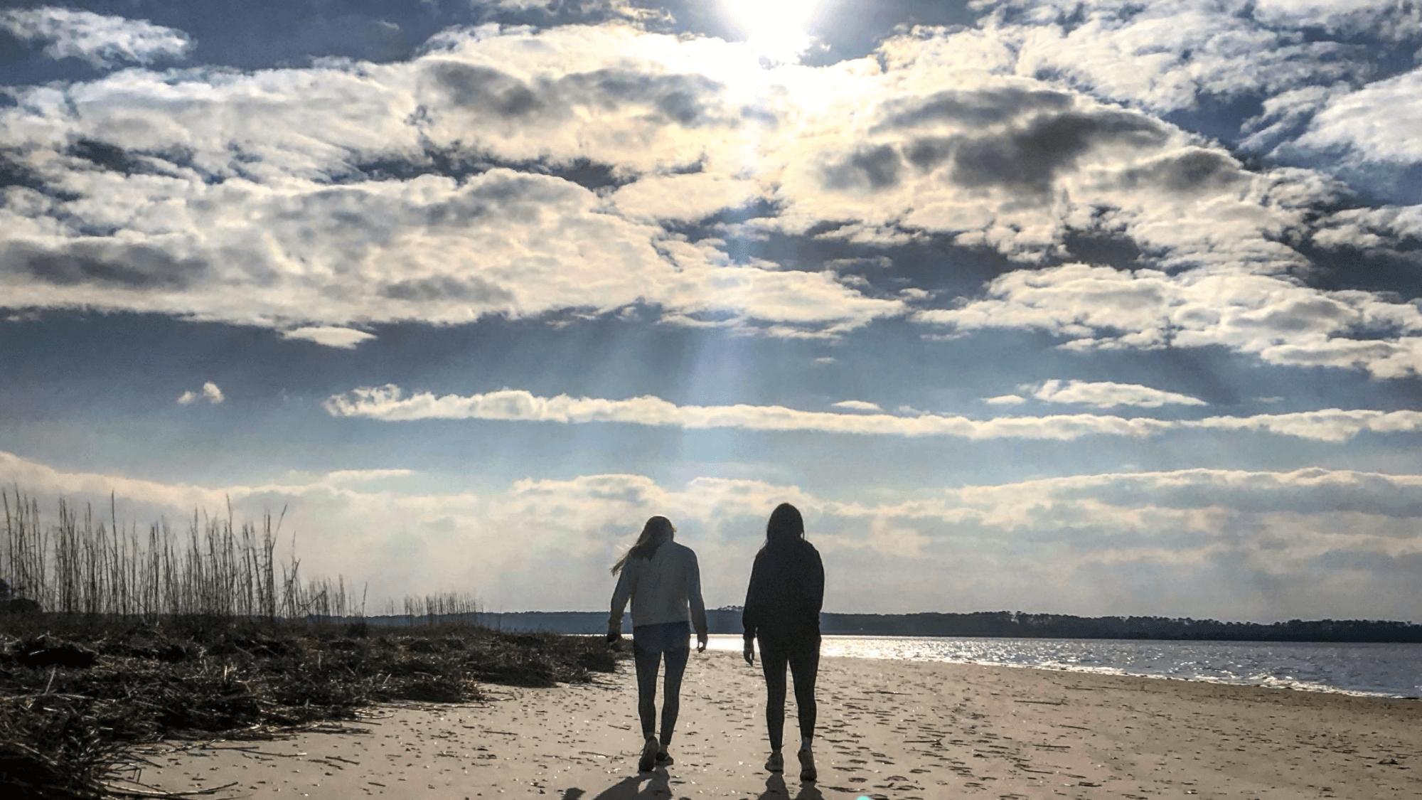 2 ladies on beach-Loss of Friendship