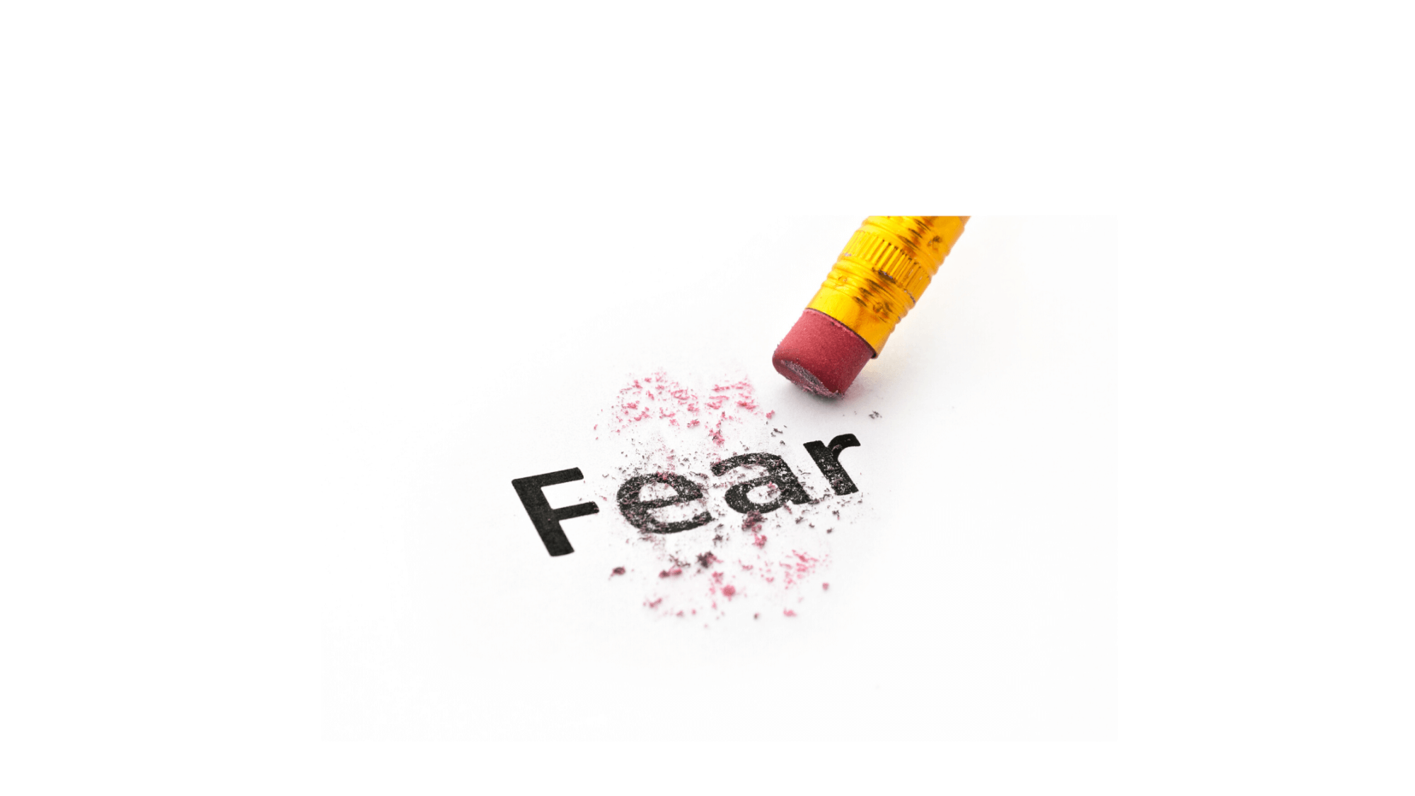 Pencil erasing the word fear-Coping during a Crisis
