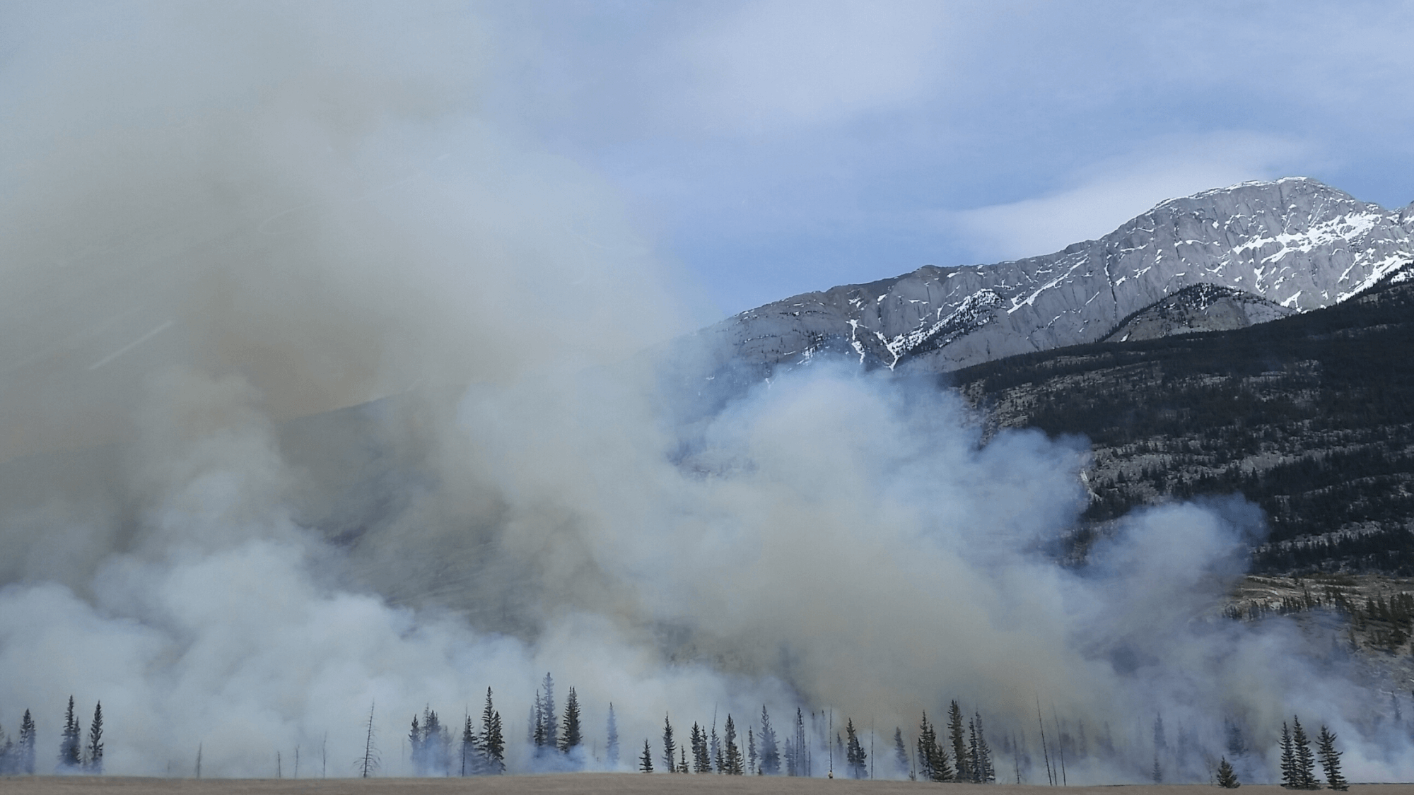 Smoke from a fire-controlled burn