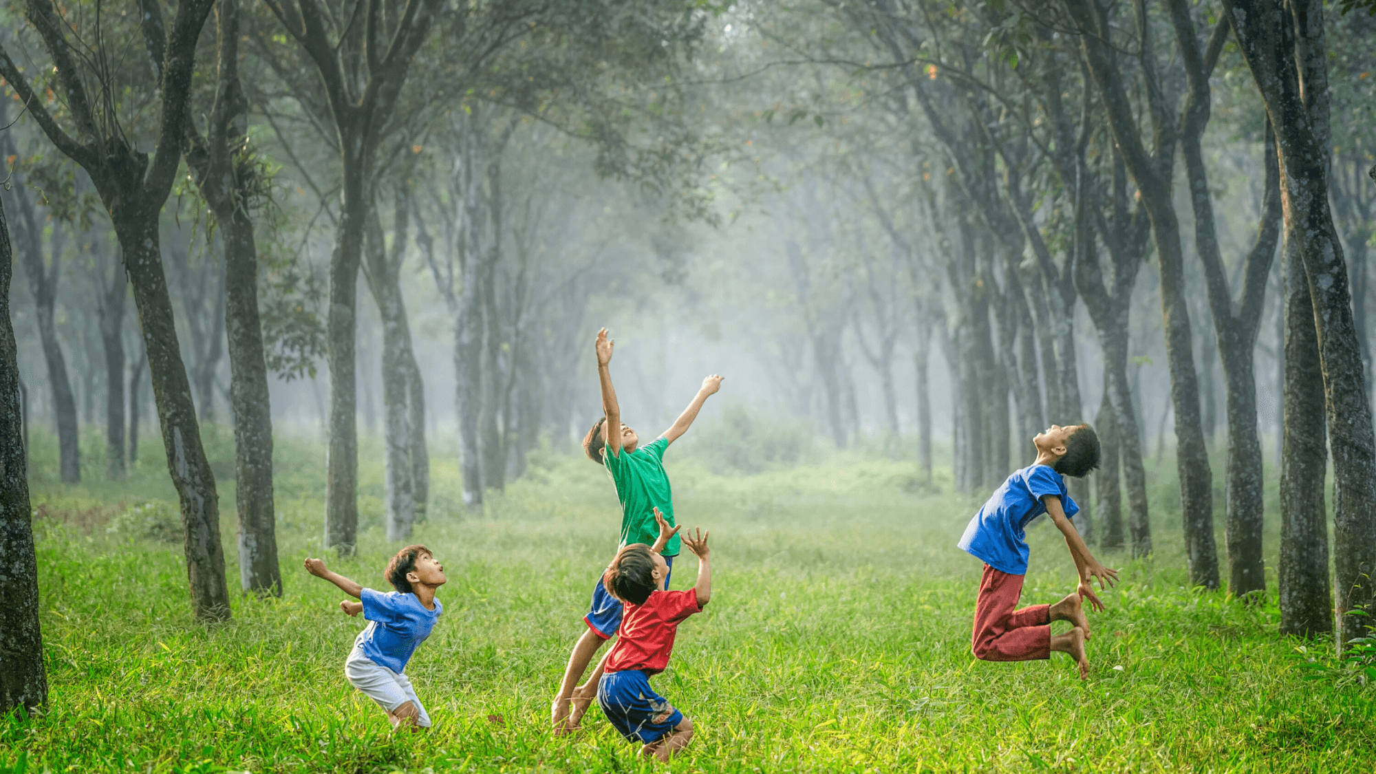 Children jumping-embrace the unexpected
