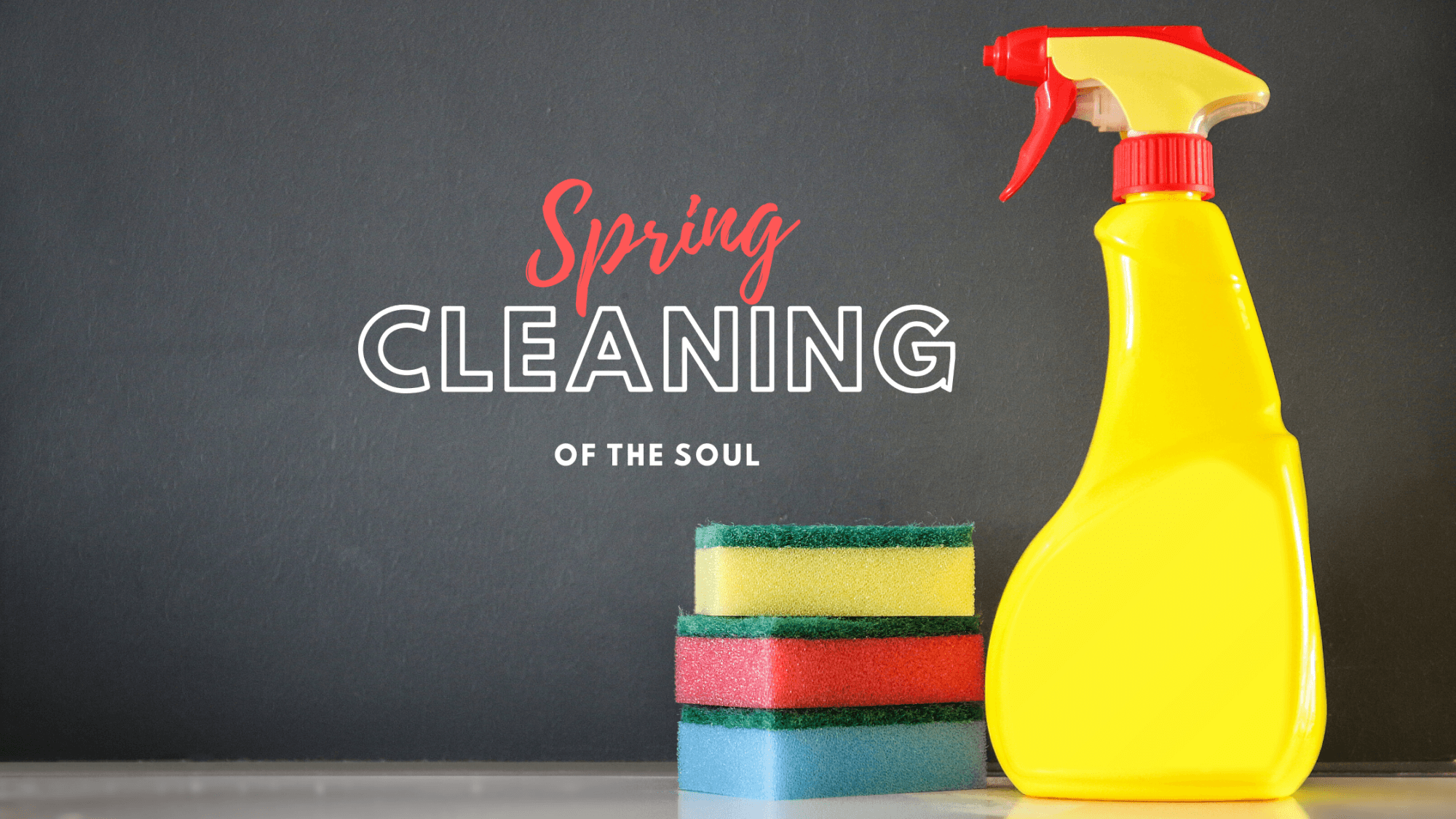 Spray bottle with sponges-Spring Cleaning for the Soul