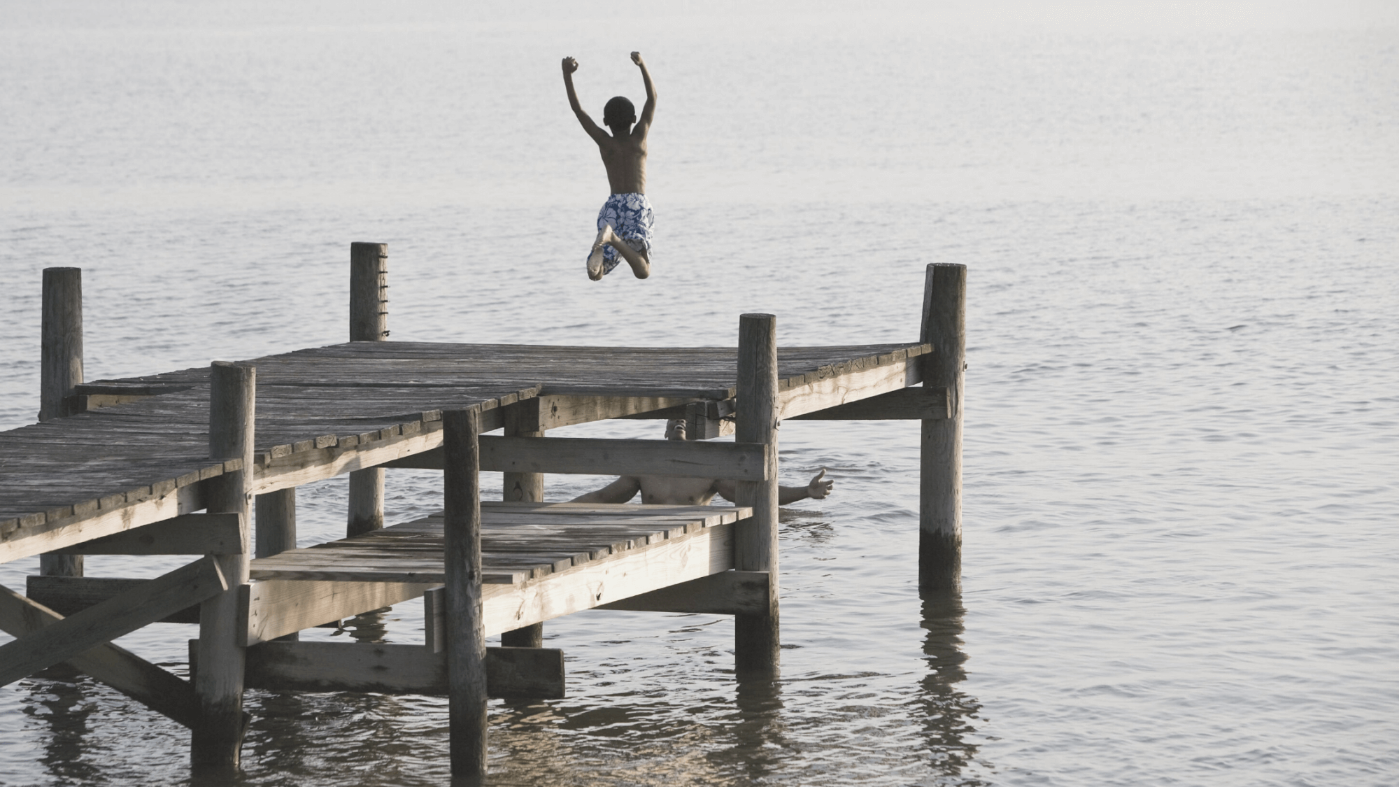 Boy jumping in water-Reckless and Audacious prayer