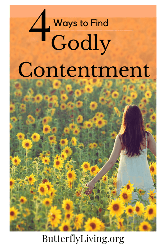 Girl with sunflowers-Godly Contenment