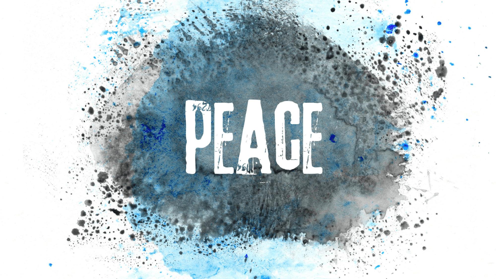 Words Peace-pursuing peace
