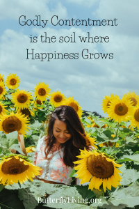 Girl with Sunflower-Godly Contentment