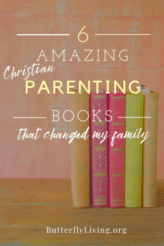 Books on shelf-Christian parenting books
