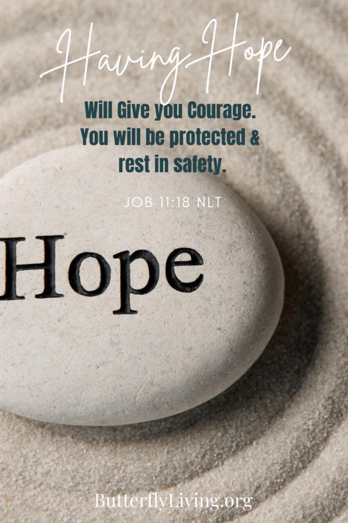 Hope on a rock-feeling vulnerable