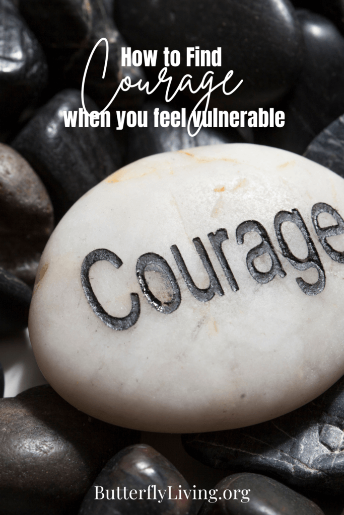 Rock with courage-feeling vulnerable