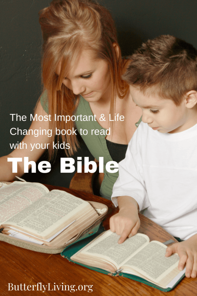 Lady reading to son-Christian parenting books