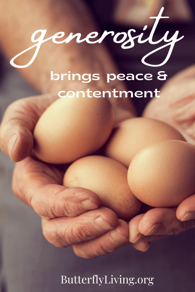 hands with eggs-what does the bible say about generosity