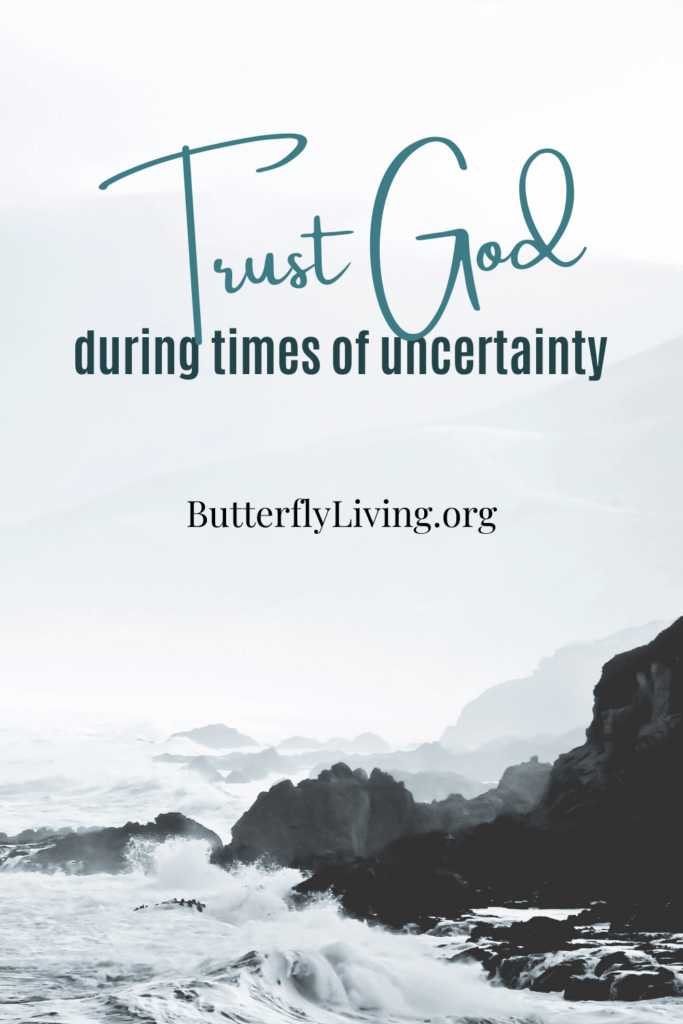 words on water-trusting God in times of uncertainty