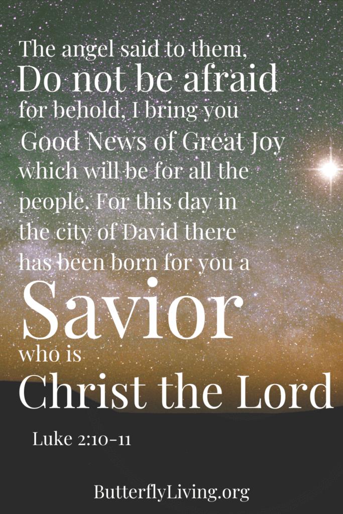 Scripture-simple Christmas