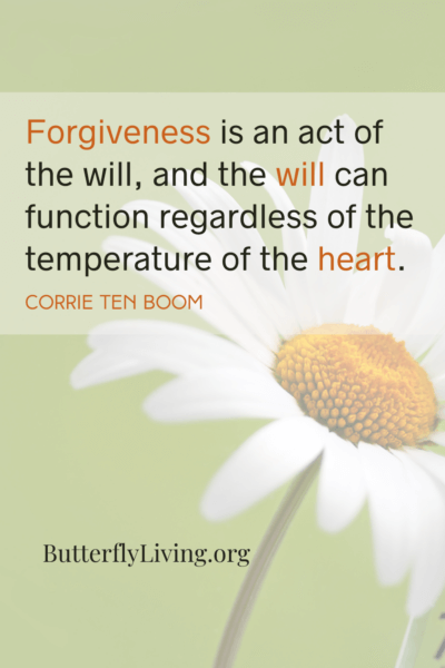 daisy with words-importance of forgiveness