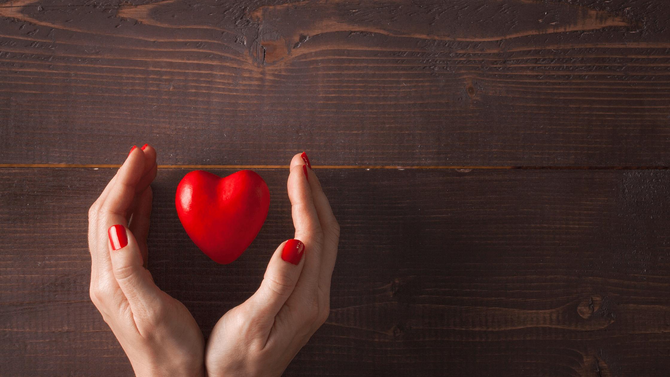 hands with heart-healthy boundaries