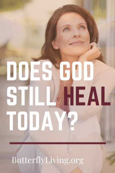 lady face with words/does God still heal today