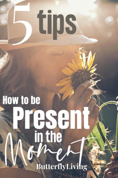girl with flowers-how to be present in the moment