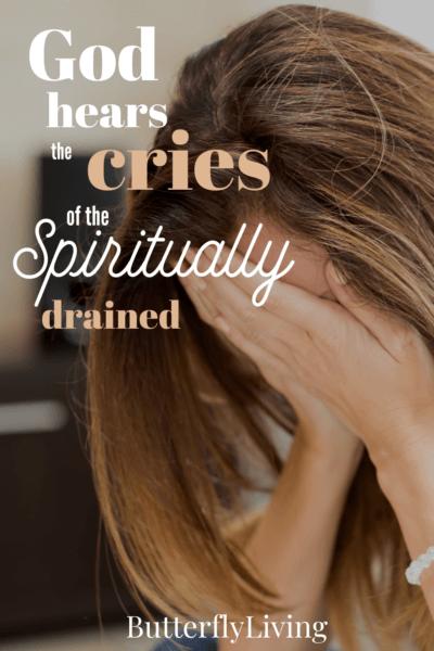 lady crying-spiritual fatigue