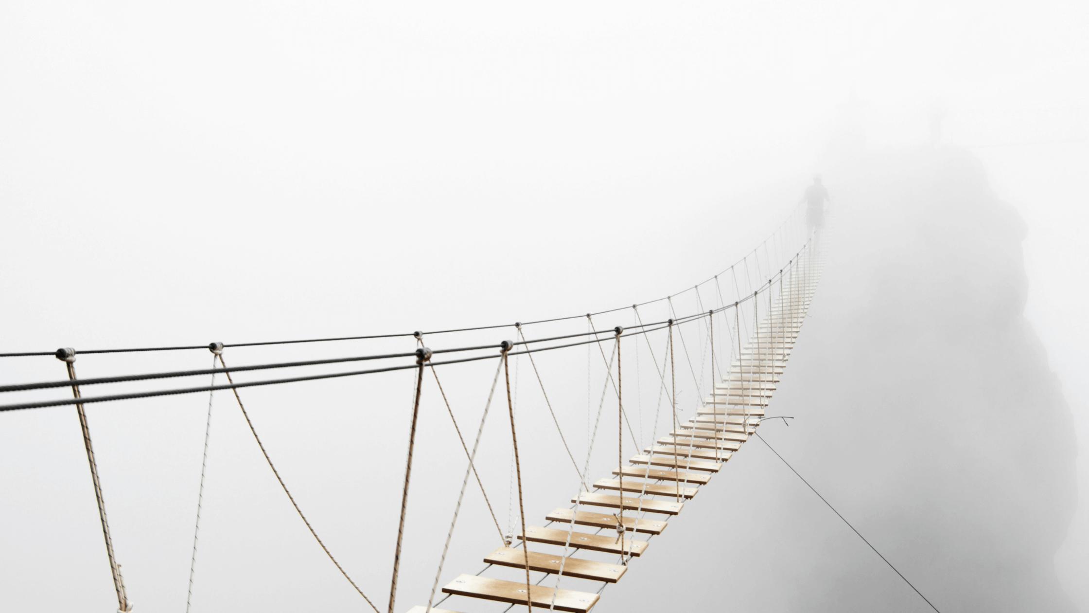 bridge in fog-overcoming the spirit of fear