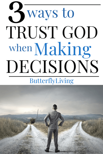 man at 2 roads-trusting God in making decisions